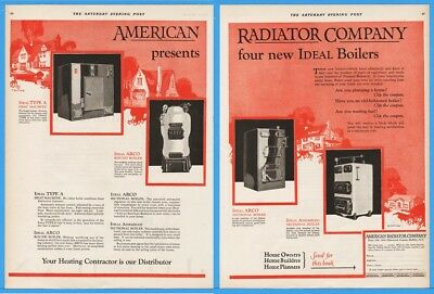1924 American Radiator Buffalo NY ARCO Hot Water Home Heating IDEAL Boilers Ad