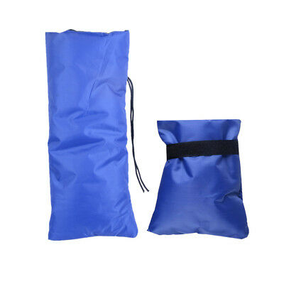 2Pieces Outdoor Faucet Cover Faucet Socks for Freeze Protection 2 Size Blue