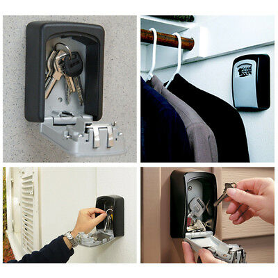 4-Digit Security Outdoor PORTABLE Wall Mounted Key Safe Box Secure Lock Outside