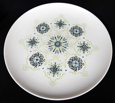 Vtg Taylor Smith & Taylor Pilgrims Lace Dinner Plate(S) Blue Green