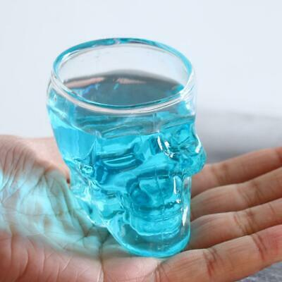 Crystal Skull Head Vodka Whiskey Shot Glass Cup Drinking Ware Home Bar -75ml