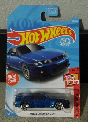 Hot Wheels Then And Now 6/10 Nissan Skyline GT-R R33 46/365 new jdm usdm