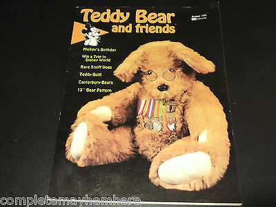 Teddy Bear and friends October 1988 - Steiff Dogs, Teddy quilt Collecting Bears