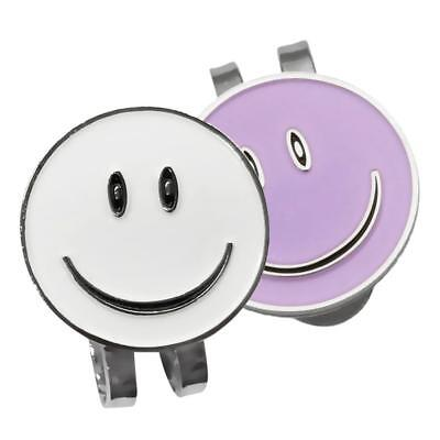 2Pcs Alloy Magnetic Hat Clips with Smile Face Golf Ball Markers Golfer Gift
