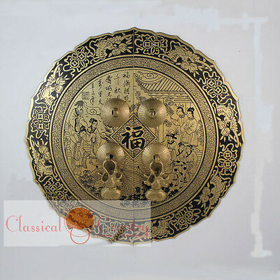 Furniture Brass Hardware Chinese Cabinet Face Plate Door Handle Copper 5.5''