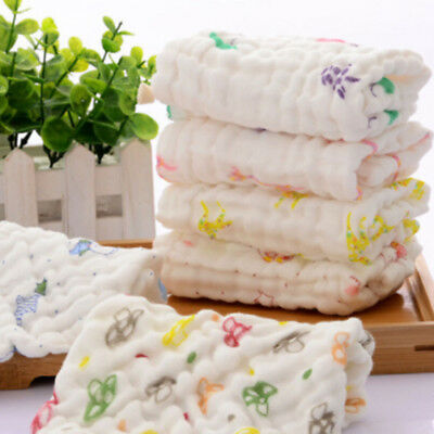 Baby Cotton Gauze Towel Wash Cloth Handkerchiefs Feeding Saliva Towel 25*25cm