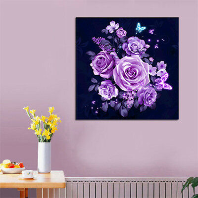 5D Diamond Rose Painting Diamant DIY Kreuzstich Stickerei Malerei Bild 30*30cm