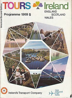 Ireland Tours Programme 1969 England Scotland Wales American 2nd Edition Booklet