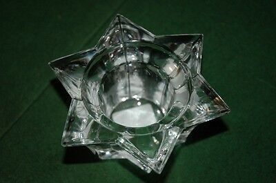 Villeroy and Boch Crystal Candle Holder Star of David