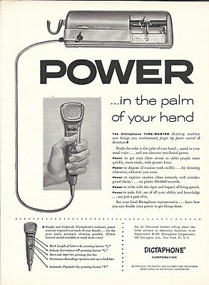 1954 Dictaphone Power In The Palm Of Your Hand Ad
