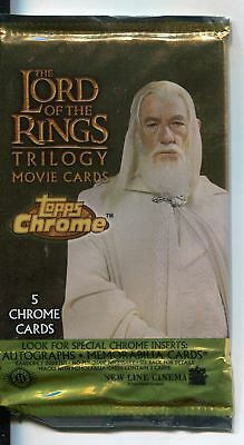 Lord Of The Rings Trilogy Chrome Factory Sealed Hobby Packet / Pack