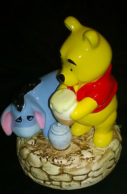 Vintage Schmid Winnie the Pooh and Eeyore Music Box Excellent Cond
