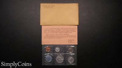 1963 Proof Set ~ Original Envelope With COA ~ US Mint Silver Coin Lot SKU-866