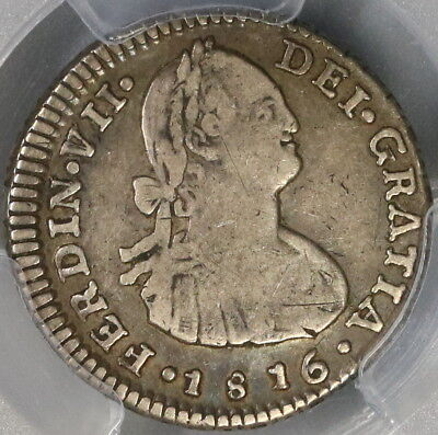 1816-So PCGS VF 20 CHILE Silver 1 Real Spain Colony Coin (17112301D)