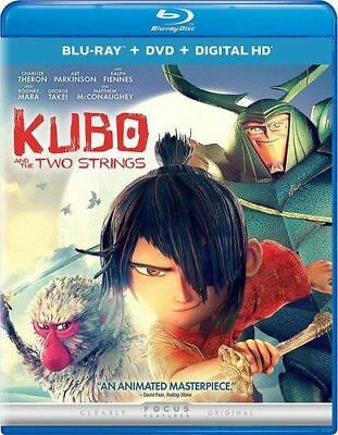 Kubo and the Two Strings: Animated Masterpiece, Blu ray + DVD + Digital HD, New