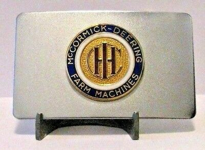 International Harvester Co. IHC LOGO McCormick Deering Farm Machines Belt Buckle