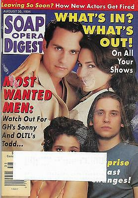 Soap Opera Digest Magazine - August 30, 1994 - Maurice Benard, What's In & Out