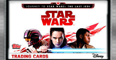 JOURNEY TO STAR WARS THE LAST JEDI Trading Card set of 160 topps UK + STARTER P.
