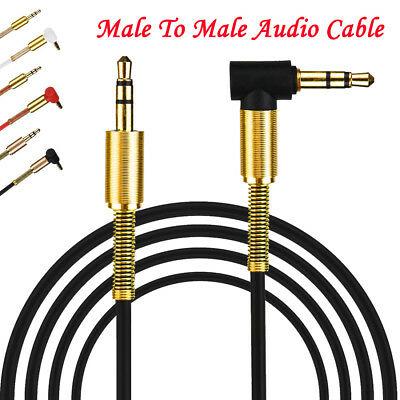 1m Advanced 3.5mm Jack Audio Cable Male To Male 90 Degree Right Angle Aux Cable