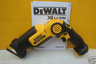 Dewalt Xr Li-On Dcs310 10.8V Mini Recip Saw Bare Unit + Carrying Case