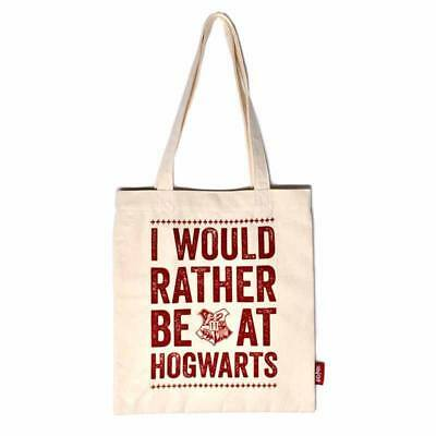 Harry potter sac shopping officiel Poudlard HP rather be at Hogwarts tote bag