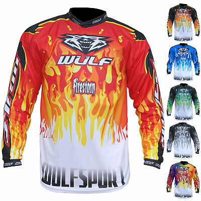 Wulf Firestorm Adult Motocross Jersey Off Road Top Enduro MX Shirt GhostBikes