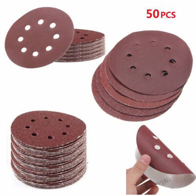 50 x 125mm Sanding Disks 40 60 80 120 240 Mix Grit Sander Pads For Polishing