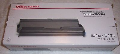 New In Box Office Depot Brother PC-501 PC501 Replacement Fax 575 Cartridge