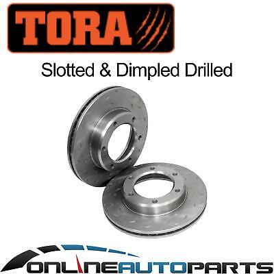 Front Dimpled Slotted Brake Rotors suits Landcruiser 80 Series 90~92 FJ80 HDJ80
