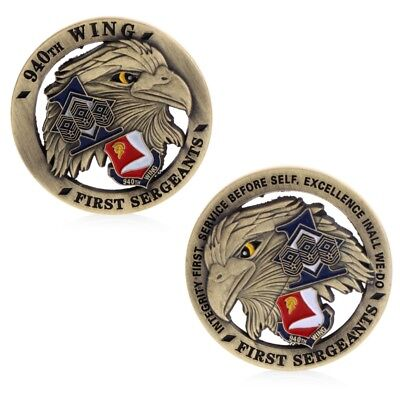 The first sergeant Eagle Commemorative Challenge Coin Zinc Alloy Collection New