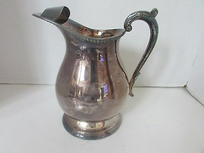 Vtg Silverplate Epca Bristol Pitcher By Poole #b22 With Ice Guard Nice