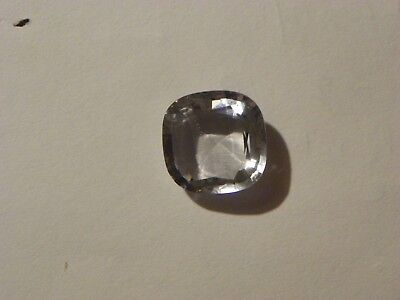 Iolite  17.55 Carats Very Pale Blue White 18 MM. Square Faceted Rare Color