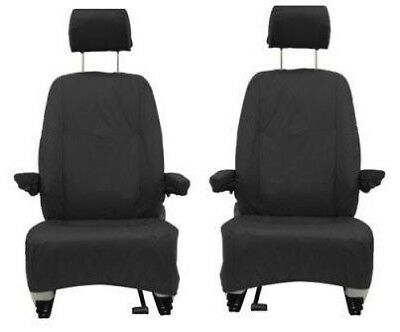 Vw Transporter T5 Front Black Drivers + Single Passenger Waterproof Seat Covers