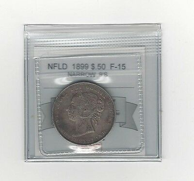 **1899 N 9's**, Coin Mart Graded, Newfoundland $.50 Cent,**F-15**