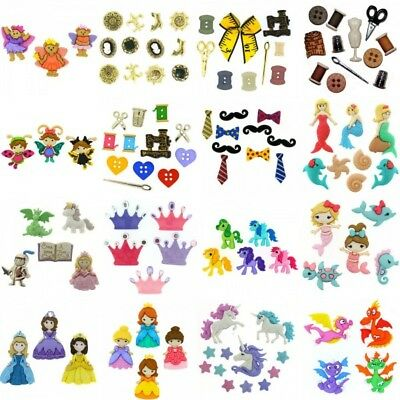 Dress It Up Buttons Embellishment Princess Unicorn Dragon Sewing Craft Notions