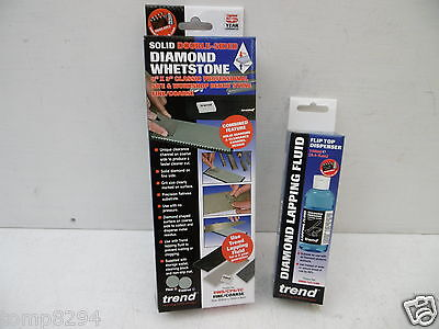 "Trend 8"" X 3"" Diamond Sharpening Stone Dws/Cp8/Fc + Lapping Fluid Dws/Lf/100"