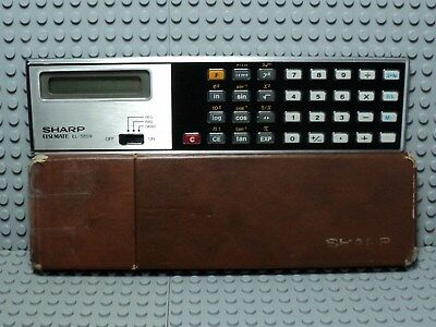 vintage calculatrice SHARP ELSI MATE EL 5809 / fonctionne parfaitement