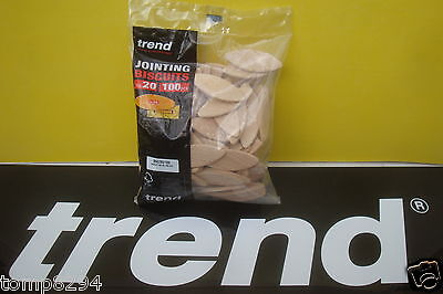 100 X Size 20 Trend Wooden Jointing Dowels Biscuits  Bsc/20/100