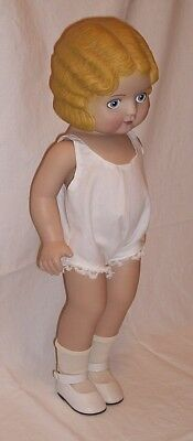 Pansy doll Daisy Kingdom 1991 18 inches tall molded waved blonde hair