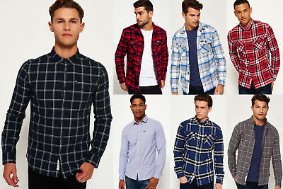 New Mens Superdry Shirts Selection - Various Styles & Colours 0301