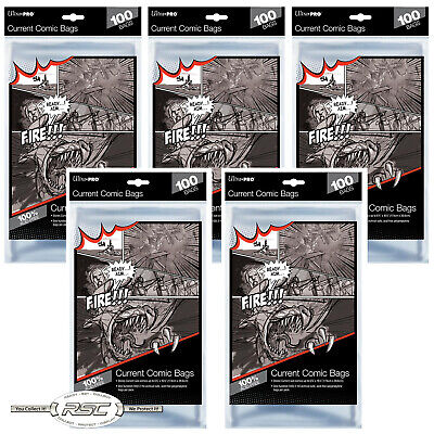 500 - ULTRA PRO CURRENT / MODERN 2-Mil Comic Bags - New Packaging!