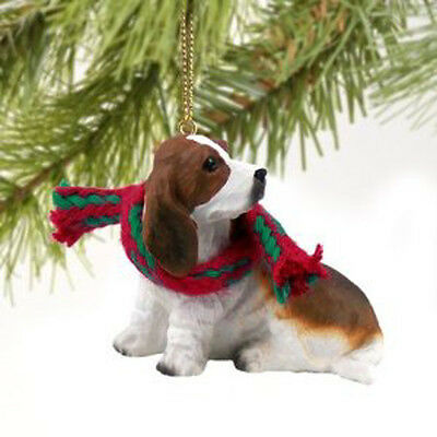 Basset Hound Dog Tiny One Miniature Christmas Holiday ORNAMENT