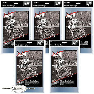 500 - ULTRA PRO SILVER SIZE 2-Mil Comic Bags 7-1/4 x 10-1/2 - New Packaging!