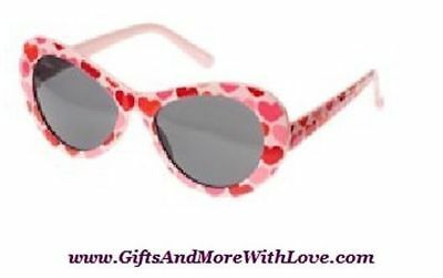Gymboree NWT Pink FULL OF HEARTS SWEETHEART SUNGLASSES 4 5 6 7 8 9 10 11 12 Year