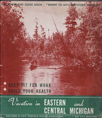 1950's Eastern & Central Michigan Vacation Guide Booklet