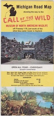 1960's Call Of The Wild Wildlife Museum Road Map Brochure