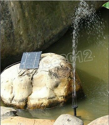 Mini Solar Water Panel Power Fountain Pump Kit for Pool Garden Pond Watering