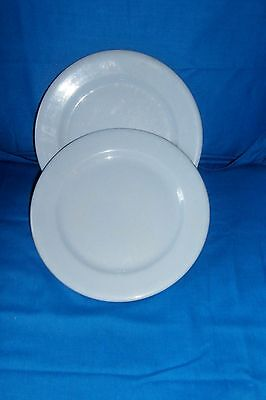 """Buffalo China Blue Lune 8"""" Lunch Dinner Plates 4 Restaurant Diner Ware"""