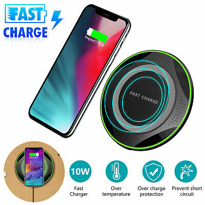 360°Car Mount Qi Wireless Fast Charger Magnetic Holder For Samsung S9 iPhone X 8
