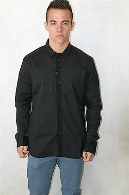 Man Shirt Black Marithé François Girbaud Size 48(XL) New Label